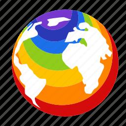gay, gay pride, global, lgbt, nation, rainbow, world icon