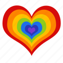 colorful, gay, gay pride, heart, lgbt, love, rainbow icon