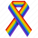 badge, gay, gay pride, homosexual, lgbt, rainbow, ribbon icon