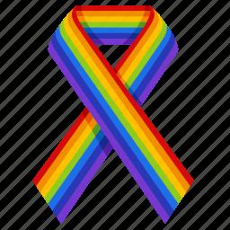 badge, gay, gay pride, homosexual, lgbt, rainbow, ribbon icon