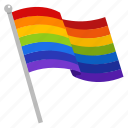 flag, gay, gay pride, lgbt, national, pride flag, rainbow icon