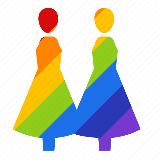 bisexual, couple, gay, gay pride, lesbian, rainbow, woman icon