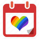 calendar, date, gay, gay pride, lgbt, rainbow icon