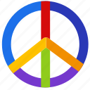 colorful, gay, gay pride, lgbt, love, peace, rainbow icon