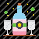 bottle, drink, glass, wine