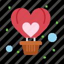 air, balloon, flight, fly, heart