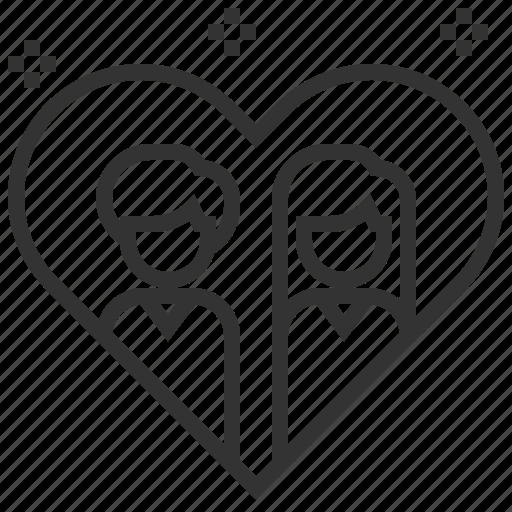 element, love, married, romance, valentine icon