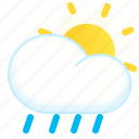 day, lightshowers, rainy, shower, sun, weather icon