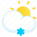 day, lightsnow, snow, snowy, sun, weather icon