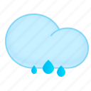 cloud, rain, rainy, weather, wet icon