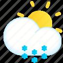 day, snow, snowflakes, snowy, weather icon