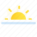 sun, sunrise, sunset, weather icon