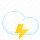 could, lightning, thunder, weather icon