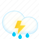 cloud, lightning, rain, rainy, thunderstorms, weather icon