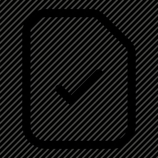 approve, check, file, tick, verified icon