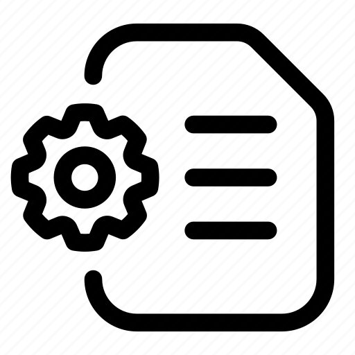config, configuration, document, file, option, setting icon
