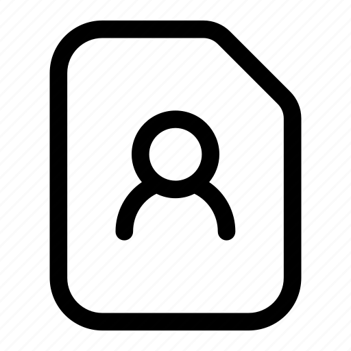 contact, identity, person, profile, user icon