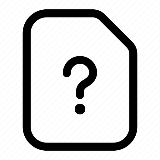 document, info, mark, more, paper, question, unknown icon