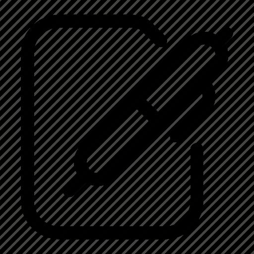 copy, edit, file, modify, pen, write icon