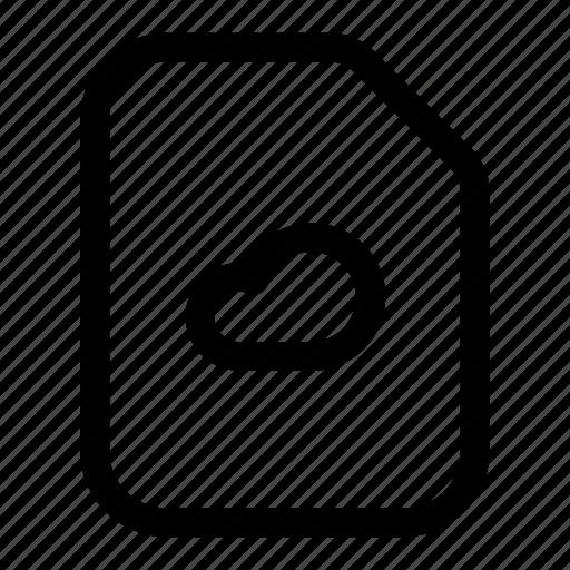 cloud, file, remote icon