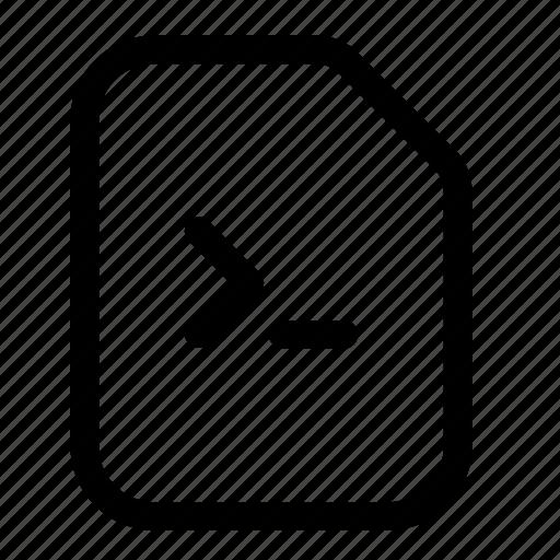 cmd, code, development, programming, source file, web icon