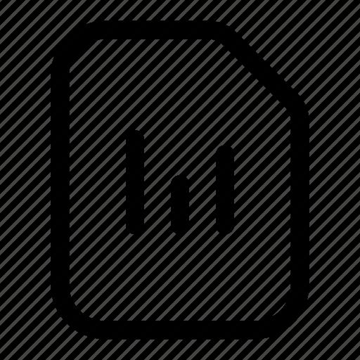 analytics, bar, chart, file, graph, reports, stats icon