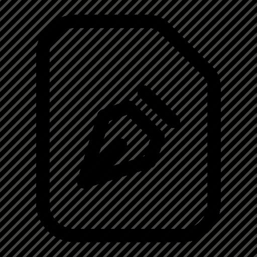 drawing, file, nib, pen, tool icon