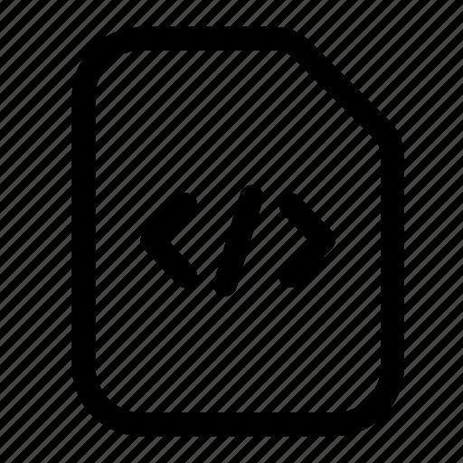 code, file, html, program, script icon