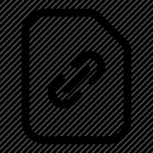 chain, file, link, url, web icon