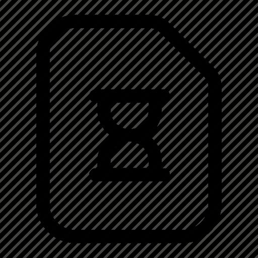 file, loading, progressing, shape, sign icon