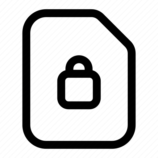 encrypted, file, locked, protected, secured icon