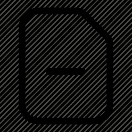 document, file, minus, report, subtract icon