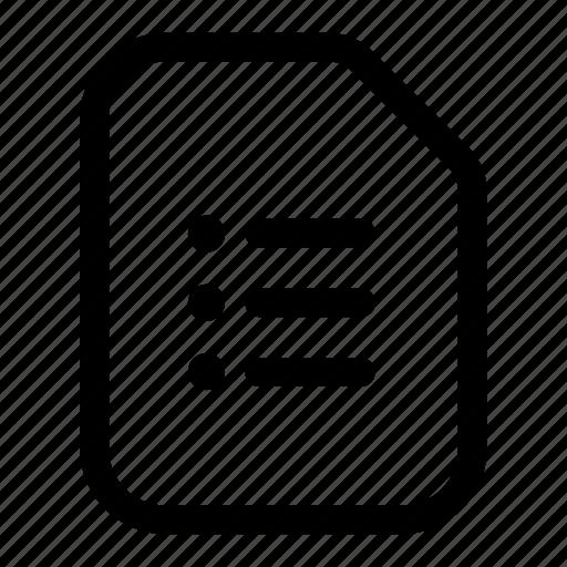 agenda, file, list, options, tasks icon