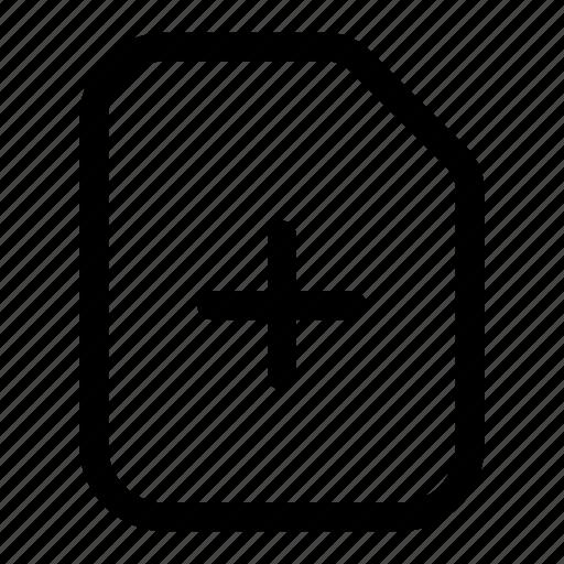 add, document, file, files, plus icon