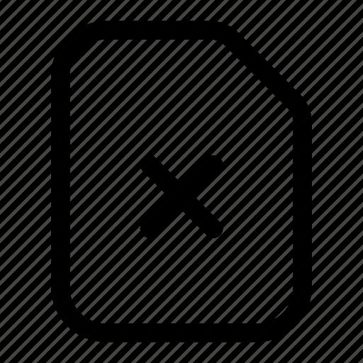 corrupt, delete, error, file, remove icon
