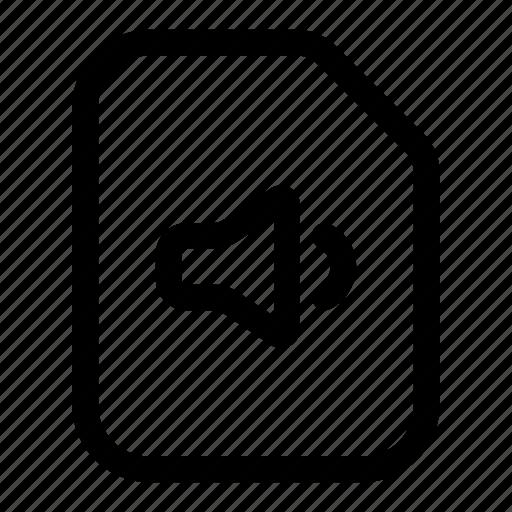 audio, file, sound, speaker icon