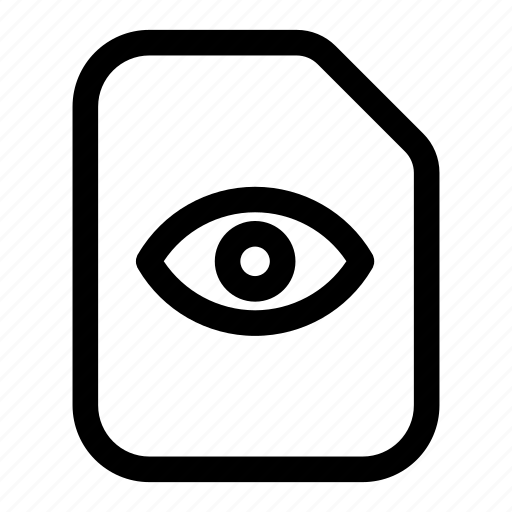 file, see, view, visibility, visible icon