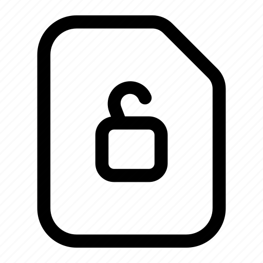 file, insecure, lock, unlocked, unprotected icon