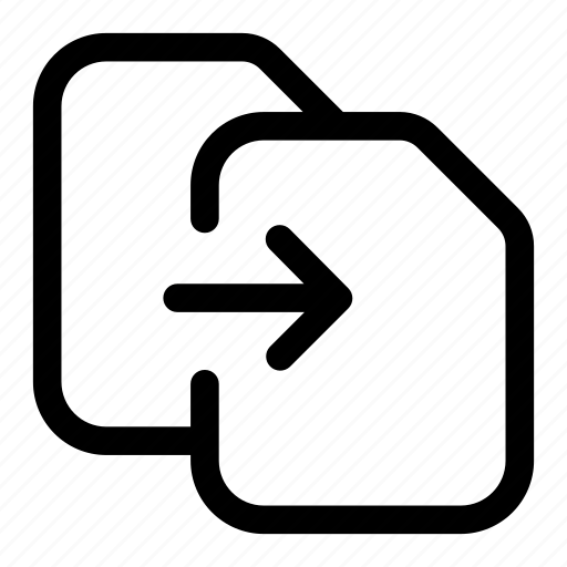 document, export, file, move, moved, send icon