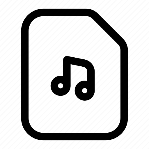 file, mp3, music, notes, play, sound icon