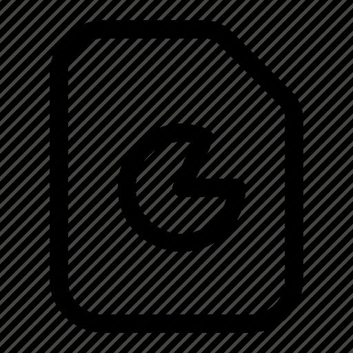 chart, file, pie, presentation, report icon