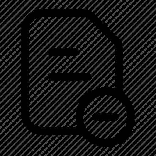 crest, delete, document, file, minus, remove icon