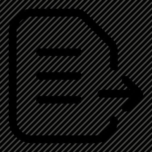 copy, data, document, file, move, send icon