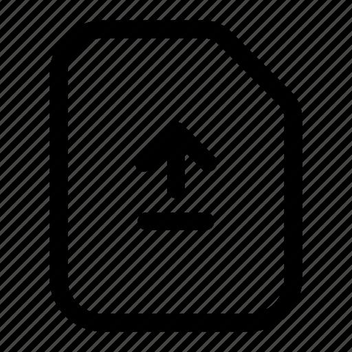 file, send, sync, transfer, update, upload icon