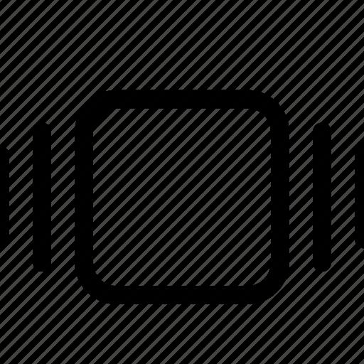 cover, flow, horizontal, layout, thumbnail icon