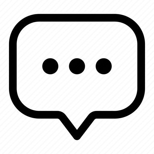 bubble, chatting, message, text, typing icon