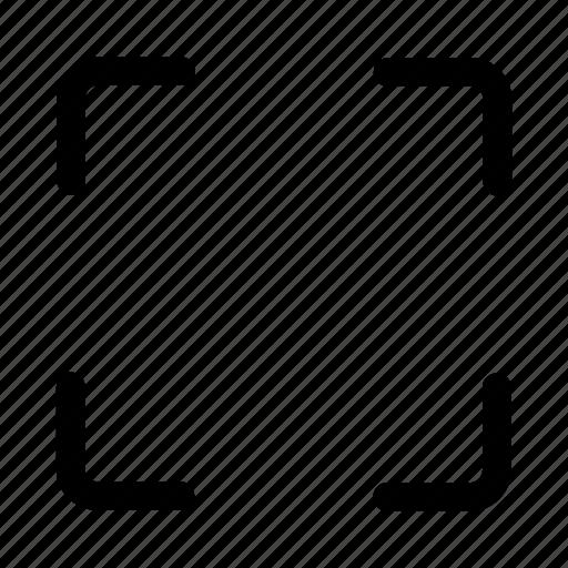 capture, enlarge, frame, full, resize, screen icon