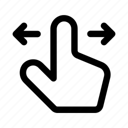 adjust, gesture, hand, horizontal, left, right, scroll icon