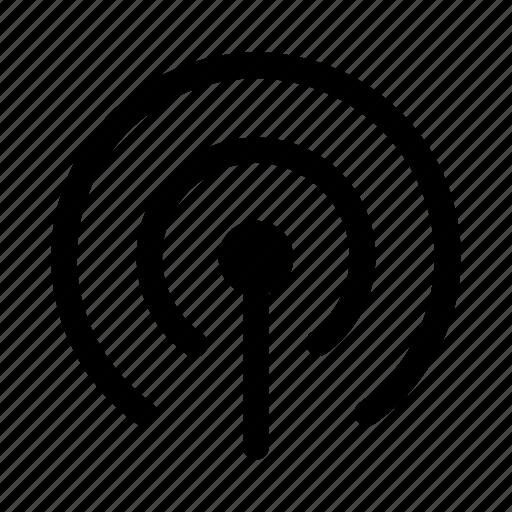 antenna, hotspot, network, radio, signal icon