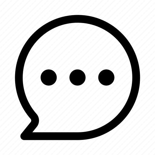 bubble, chat, message, rounded, text icon